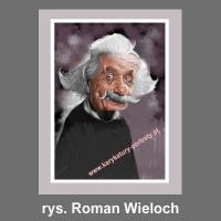 karykatura cyfrowa Albert Einstein