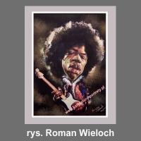 karykatura cyfrowa Jimi Hendrix