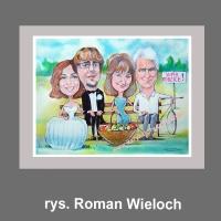 karykatura prezent podziękowanie dla rodziców wesele