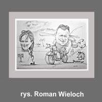 karykatura prezent rysunek rocznica ślubu jubileusz