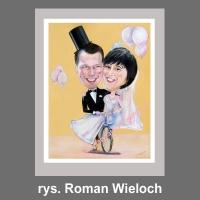 karykatury ślubne