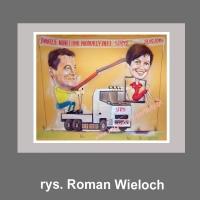 karykatura prezent dla szefa szefów